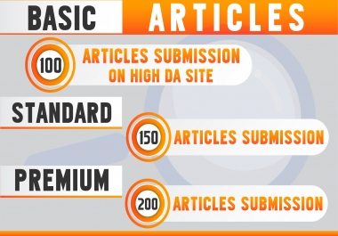 Do Post 100 Article On High DA50+ Sites
