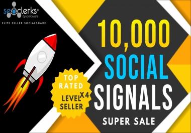 10,000 PR10 Social Network Signals Bookmarks / Backlinks / Help To Website Traffic Google Rank