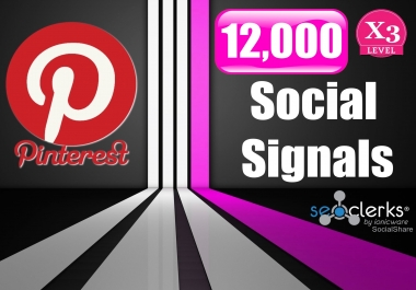 12,000 PR9 Pinterest SEO Social Signals Share For Google Ranking