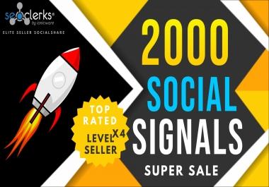 2000 PR10 Social Network Signals / Bookmarks / Backlinks / Help To Website Traffic Google Rank