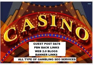 Casino, Poker, Gambling sites Google Rank 200 -250 Keywords for Organic Traffic Real Human Visitors