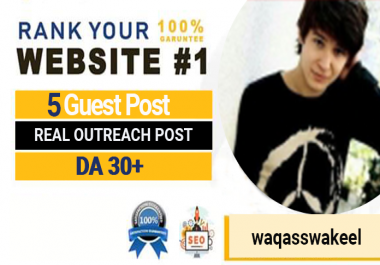 5 High Quality Permanent DA 50+ Dofolow Guest P0st BackLinks