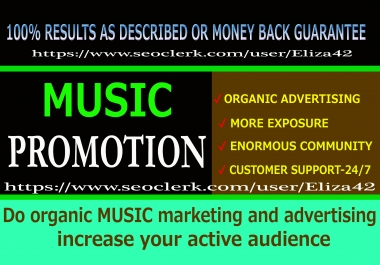Do organic MUSIC marketing and advertising increase your active audience