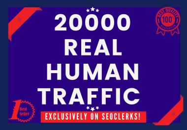 Send 20000+ real human visitors from google,yahoo,bing etc