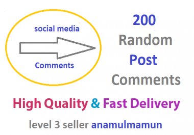 200 High-Quality English Speaking countries profiless Random Post Comments