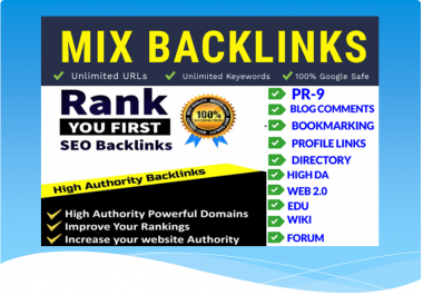 build Google Safe Mix SEO Backlinks are the fastest way to rank your website