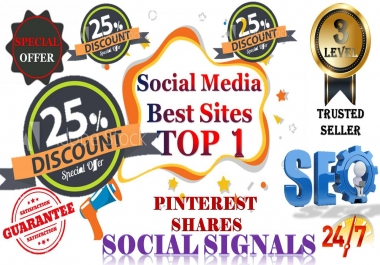 Gig Offer 5,000 pinterest USA,UK,UAE,share Real SEO Social Signals with split also available
