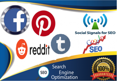 TOP 4 Sites Social Media Best Sites 4,000+ Mixed Social Signals Bookmarks Important Google Ranking