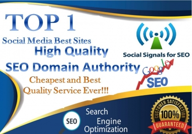 TOP No1 Social Media Best Site 5000+ PR10 DA95 PA100 share Real SEO Social Signals