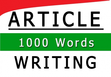 Write your 1000 words Highest Quality Content
