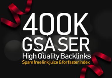 Create 400,000 Authority GSA SER Verified Backlinks