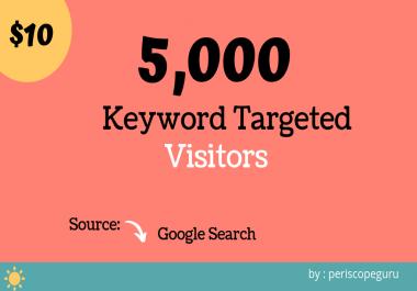 5000 Keyword Targeted Website Visitors, Google Search