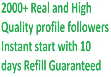 Get 2,000+ Social media followers via real user with 10 days refill guarantee if Drop