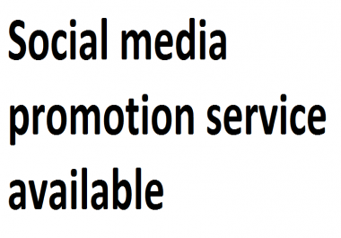 Social media Promotion available via real users