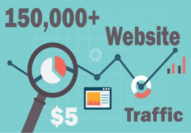 150,000+ keyword targeted traffic from google