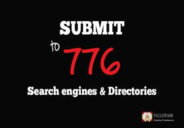 submit your website to 776 search engines and directories