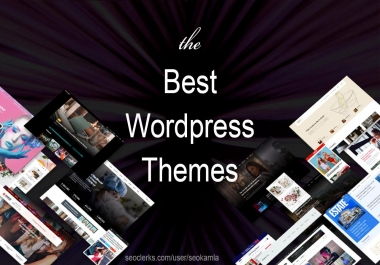 Ceate a blog, newspaper or magazine website using licensed wordpress theme