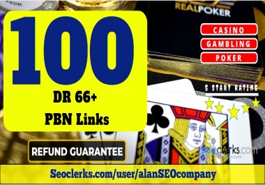 100 Permanent DR 66 Homepage PBN Dofollow Backlink