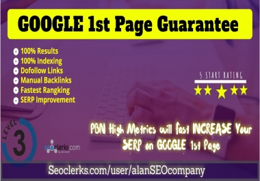 Rank your Website 1st Page of GOOGLE or Refund