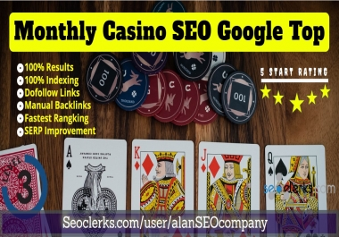 Google 1st Page Guaranteed or Refund Monthly Package