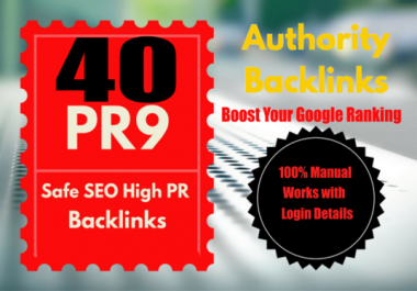 Top 40 High Authority Profile Backlink From DA 60+ All PR 9-6 UNIQUE Domain