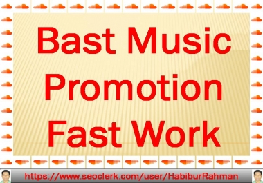 I will do bast natural music promotion to improve your Audio & Music