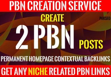 Make 2 Homepage PBN Permanent Contextual DA PA 40+ Backlinks