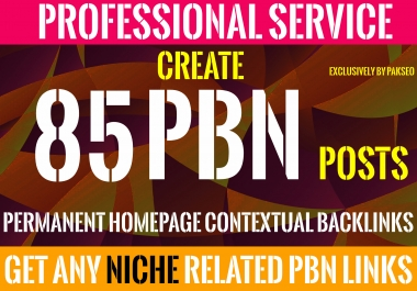 Build 85 Homepage Posts DA up to 60 Plus PBNs