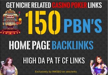 Get 150 Niche Pbn Casino, Gambling, Poker, Judi Bola Related High DA PA Pbns LINKS