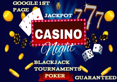 GAMBLING CASINO POKER RANKING ON GOOGLE 1ST PAGE YOUR WEBSITE GUARANTEED 9000 BACKLINKS KEYWORDS