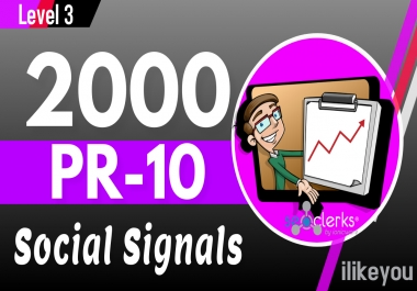 2,000 PR10 Social Network Backlinks Bookmarks - Help to rank your website Traffic Google First Page