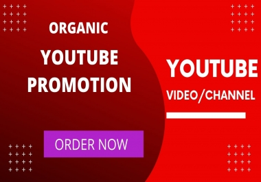 Do fast organic youtube video promotion