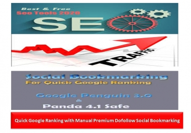Quick Google Ranking with Manual 100 Premium Do-follow Social Bookmarking