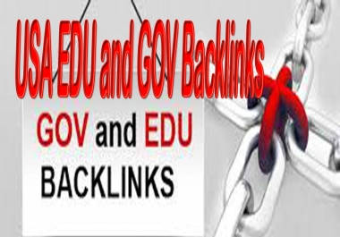 Get USA EDU and GOV Backlinks and improve Your Website Rank On SERPs.