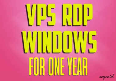 Provide Rdp Windows Vps For One Year