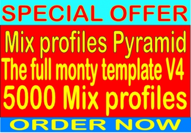 Top Mix profiles Pyramid With 5000 Mix profiles from SEnuke - The full monty template V4 Backlinks