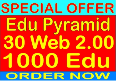 Top Edu Pyramid With 30 Web 2.0 from 1000 Edu Backlinks