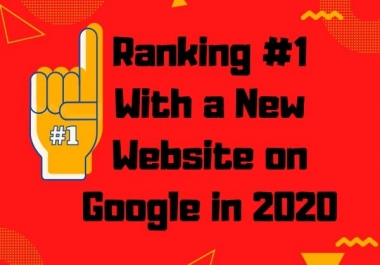 Ranking 1st Page with a New Website on Google 2020 - SEO Link building Service