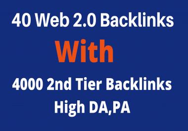 40 Web 2.0 Blog With 4000 2nd Tier Backlinks High DA,PA