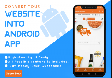 I Will Convert Your Website To Android App With Push Notification