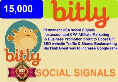 15,000 USA Bitly social signals website Traffic & Backlink Great way to increase Google ranking