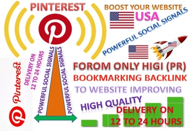 GET POWERFUL 100.000 PINTEREST USA SHARE SOCIAL SIGNALS FROM ONLY HIGH (PR) BACKLINKS