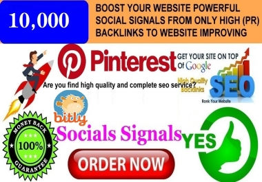 GET 10K SEO MIXED PINTEREST & BITLY SOCIAL SIGNALS FROM ONLY HIGH PR BACKLINKS TO WEBSITE IMPROVING