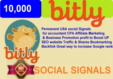 10,000 Permanent USA Bitly social signals website Traffic & Great way to increase Google ranking