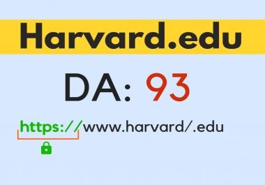 I will do 2 Harvard .Edu DA90 links dofollow backlinks plus 8 bonus da 40+ edu backlinks