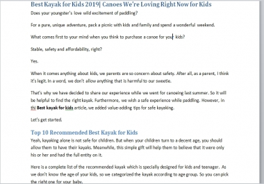 Article on Best Kayak for Kids in 2020
