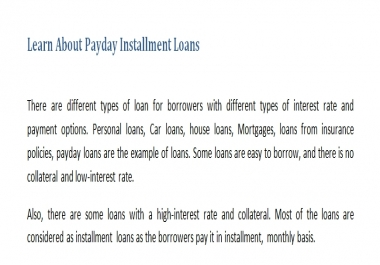 Payday Installment Loans Article about 800 Words