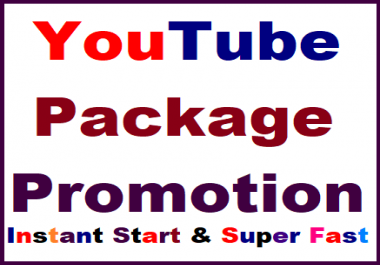 Safe Youtube package promotion all in one non drop guaranteed