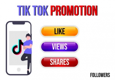 tiktok video promotion for your video and profile