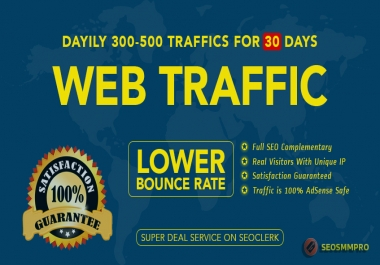 Do Keyword Target, Worldwide and Targeted Country Website Traffic with Low Bounce Rate For 30 Days